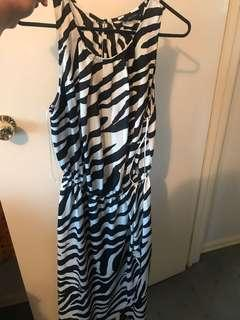 Decjuba zebra print maxi dress size 12