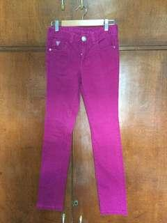 Guess Maroon / Hot Pink jeans pants