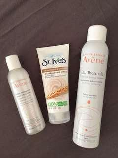 Skin Care Products - Avene and St. Ives