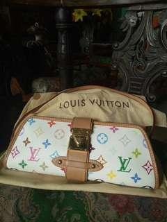 Louis Vuitton White Shirley Clutch Multicolor