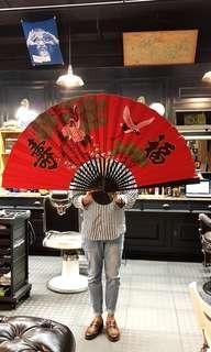 Big wall hand fan