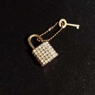 Diamond Encrusted Gold Small Padlock
