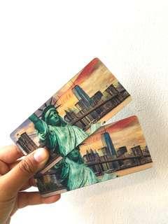 New York Hologram Fridge Magnet #bersihbersih