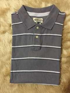 AMERICAN RAGcie Striped T-Shirt w/ Collar