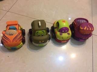 四架回力車 小朋友玩具