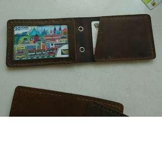 Card ID Holder Genuine Leather Handmade ( Customizable  + engraving)