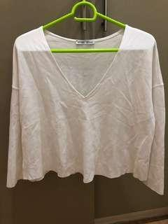 Zara white top US Small