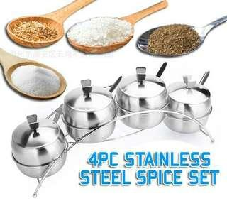 4 pcs stainless steel spice set