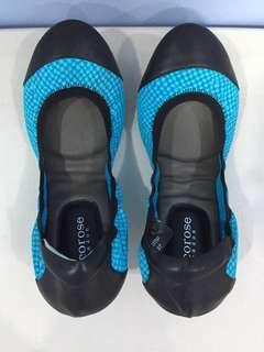 NEW Cocorose turquoise blue foldable ballet flats - Classic Elegance Brixton