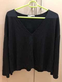 Zara US M black top