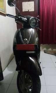 Motor Retro Sym Attila Venus 125 Limited Edition Brown Metalic 2013