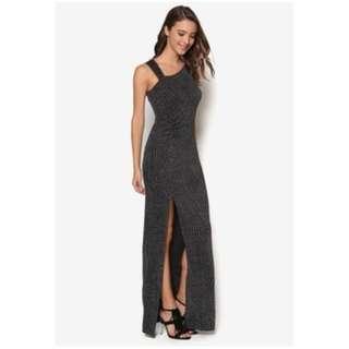 (BNWT) Dressing Paula Branded - Elegant body long dress in Silver colour
