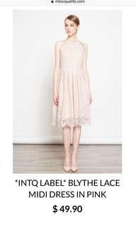 Intoxiquette BLYTHE Lace Midi dress in Pink