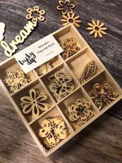 🚚 Kaisercraft Wooden Flourish Pack (Butterfly)