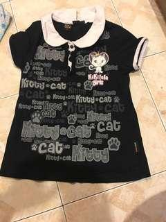 Kiki lala black cat dress with collar 1y-2y