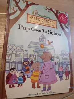 New Pup Goes to School Hardcover Lift-A-Flap Children Board book #NEW99