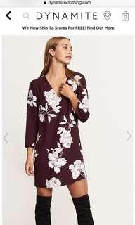Dynamite Shift Floral Dress