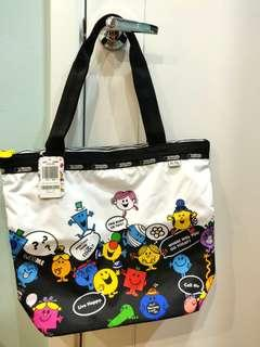 SALE Authentic BRAND NEW Lesportsac Mr Smiley Hailey Tote Bag