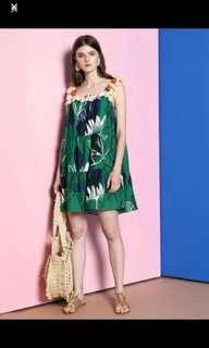 Soeurs.co tassels & Pom Pom green dress