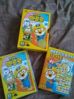 BN Pororo DVD with charts