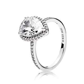 Authentic Pandora radiance teardrop ring
