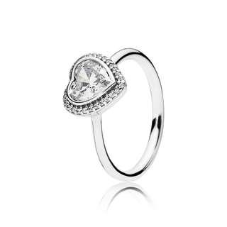 Authentic Pandora sparkling love ring