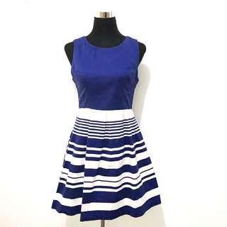 FOREVER21 Blue Skater (A-cut) Dress