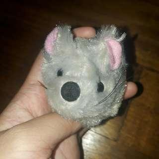 Cute Grey Mouse Keychain