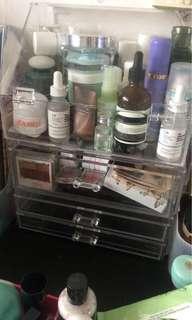 Acrylic 4 layers makeup & skincare drawer