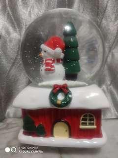 聖誕玻璃音樂球。