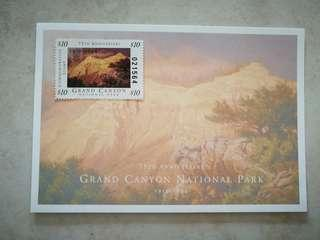 Grand Canyon 75th Anniversary Stamp , USD10