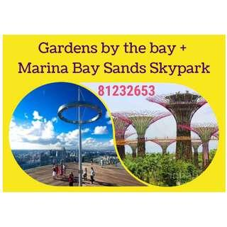 Gardens by the Bay 2 Domes + Marina Bay Sands Skypark Observation Deck Combo
