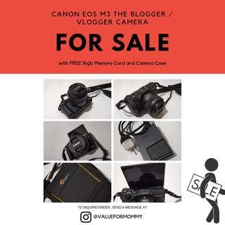 Canon EOS M3 (like new!) with Free Camera Bag and 16GB MMC