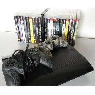 PS3 set + 21 Games and 2 Controller