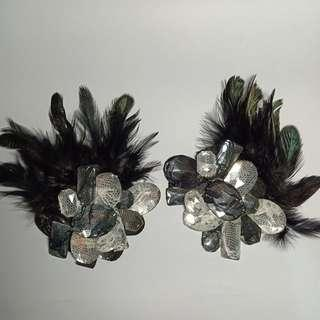 Feather Headpiece or as Brooch