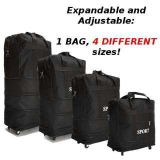 Adjustable luggage