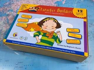NEW~ Character Builders (12 board book set ) stories for beginning readers