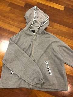 Bershka grey jacket/hoodie