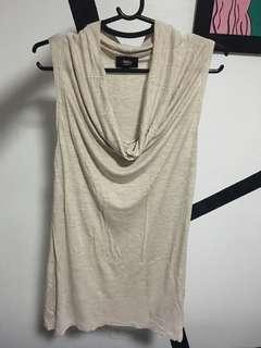 Beige sleeveless blouse