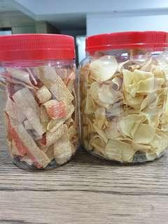 CNY Cookies / Fried Crabsticks / Fried Chiku Arrowhead