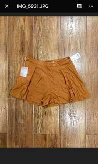 FOREVER 21 Flowy Mustard Boho Dress Shorts