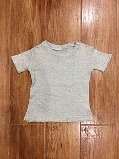 TOPSHOP Inspired Heather Gray Cropped Top