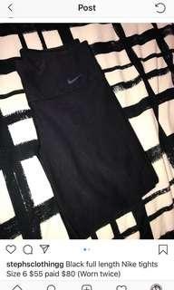 Black nike active tights