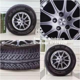 汽車輪胎 車呔 抱枕 靠枕 咕𠱸