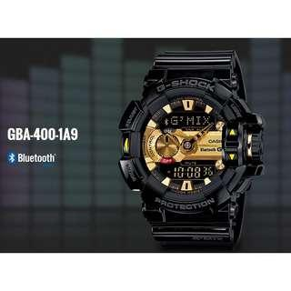 Brand New Casio Gshock Gmix Bluetooth GBA400 Black Gold Series with FREE DELIVERY 📦 G-Shock Unisex