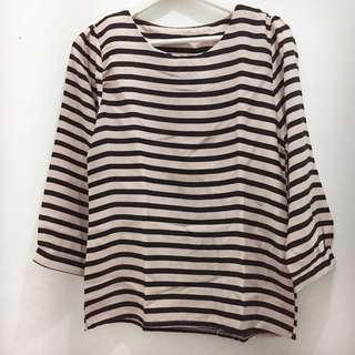Stripes Blouse Baby Pink