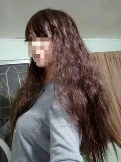 Long deep brown wig