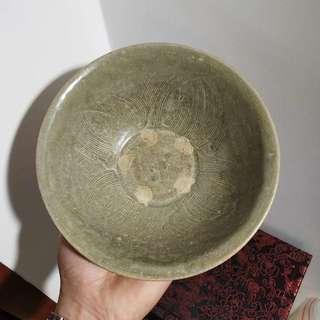 北宋越窯蓮花碗 寬17cm 高7cm 全品