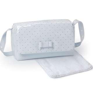 Branded Baby Bag Pasito a Pasito Changing Bag (Embroidered Blue Polka Dot)