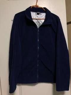 Bossini 深藍 抓毛 超暖外套